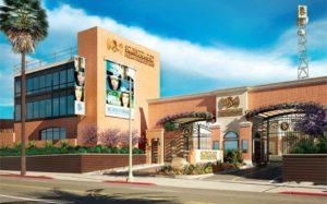 Exteriér studii - Scientologická televizní a rozhlasová stanice
