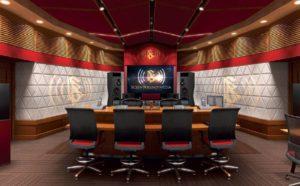 Hlavní mixážní místnost Scientology Media Productions